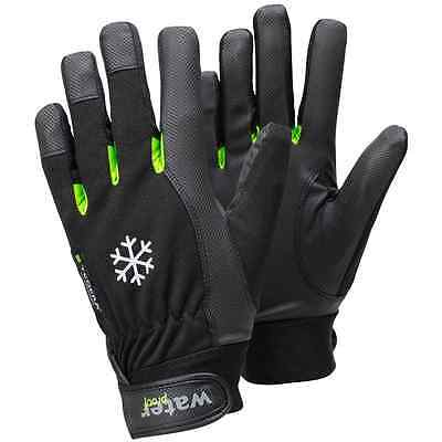 """Ejendals 517-8 Size 8 """"Tegera 517"""" Synthetic Leather Glove - Black/Green"""