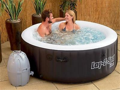 Bestway Lay Z Spa Miami HydroJet Pro, Inflatable Portable Outdoor Spa Hot Tub