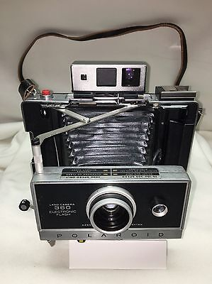 Kodak Polaroid Land Camera Model 360 With Case With Accessories -Vintage