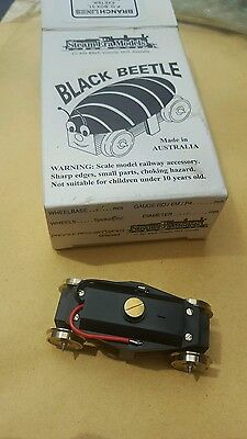 BNIB Black beetle drive bogie for ho/oo/em/p4 s and o scale traction RARE IMPORT