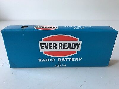 EVER READY RADIO BATTERY 1.5v AD14 - VINTAGE BATTERY FOR DISPLAY
