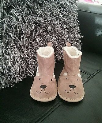 M&S Cute Baby Booties Size 3-6 Months
