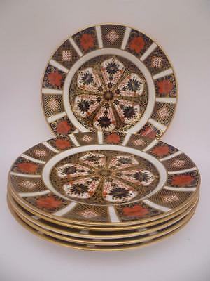 A SET OF 6  SIX ROYAL CROWN DERBY IMARI 1128 8.75inch CABINET  PLATES