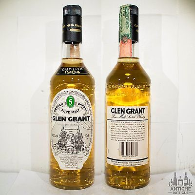 Glen Grant Pure Malt Scotch Whisky 5 Years Old Distilled 1984 70 Cl 40°