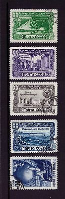 Russia 1949 Postage Stamps sc#1420 1421 1423 1424 1426 LH Used cto