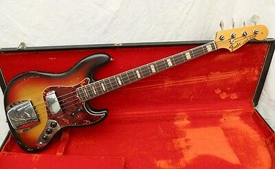 1970 Fender Jazz Bass -  Sunburst - Ohsc - Andy Baxter Bass