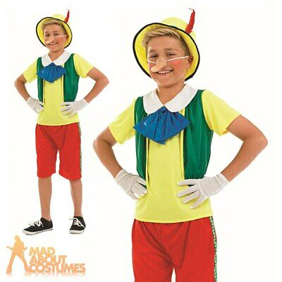 Child Fairytale Puppet Wooden Boy Costume Boys Fancy Dress Book Week Outfit New