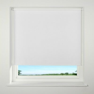 Discounted Top Quality Roller blinds BLACKOUT WHITE/CREAM MADE TO MEASURE