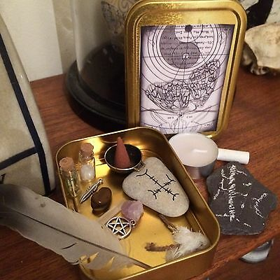 Protection Spell Box, Charm, Wicca, Pagan, Witch