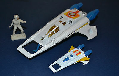 Corgi Toys Buck Rogers Starfighters, little and large.
