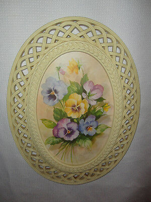 Home Interiors Oval '' Pansy '' Picture    12.5''x 16.5''