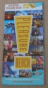 2016 Blackpool Pleasure Beach Fold Out Guide Leaflet