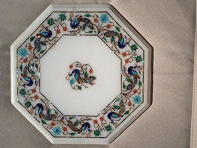 """12"""" Marble Coffee Table Top with inlay mosaic design"""