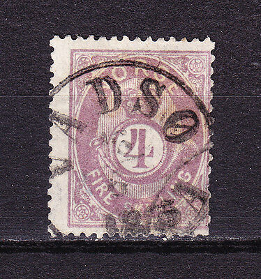 Norway  1871  Posthorn  4 skill  brown-violet?  cancel  VADSO