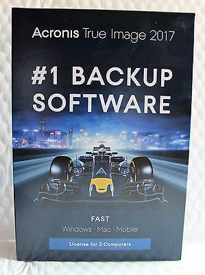 *NEW* Acronis True Image 2017 For PC & Mac 3 PC Backup & Recovery for windows 10