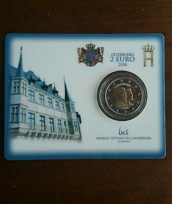 Coincard 2 euro 2006 Lussemburgo Guillaume Luxembourg