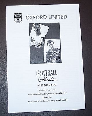 Oxford United v Stevenage - Football Combination - 1st May 2012