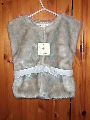 NEW SHRINKING VIOLET GIRLS FAUX FUR GILET/WAISTCOAT  AGE 3 - 4 yrs
