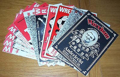 Wrexham - 11 Mixed Seasons Home Programmes
