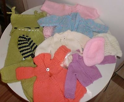 """Home Made & Knitted Doll Clothes - Suit Dolls 12-16"""" (lot 2)"""