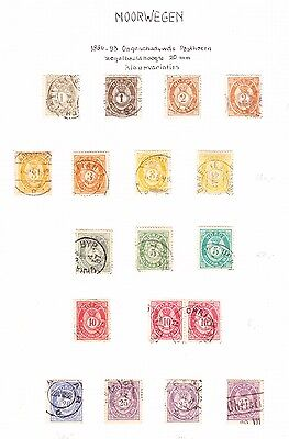Norway  1886  Posthorns   Collection for the Specialized Collector