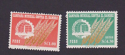 Perù 1963 Freedom from Hunger fame hambre MNH ** OG gomma integra originale