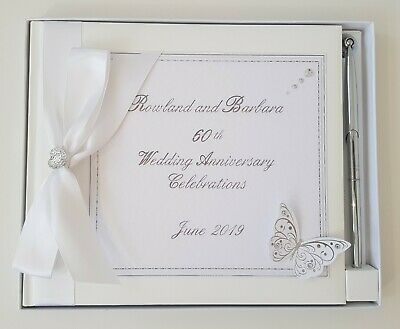 **personalised Guest Book 25Th 30Th 40Th 50Th 60Th Wedding Anniversary Engagemen