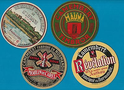 Selection of all different cheese labels Fromage formaggio CAMEMBERT #219