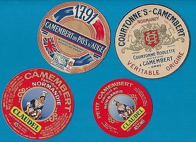 Selection of all different cheese labels Fromage formaggio CAMEMBERT #169