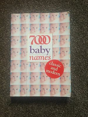 7000 Baby Names Book Classic And Modern