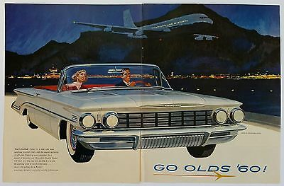 Oldsmobile 1960 Super 88 Convertible Coupe - Magazine Advertisement - 2 Pages...
