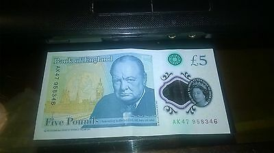 Polymer Bank of England £5 Note AK47