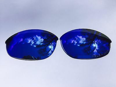 Engraved Polarized Ice Blue Mirrored Replacement Oakley Half Jacket Lenses