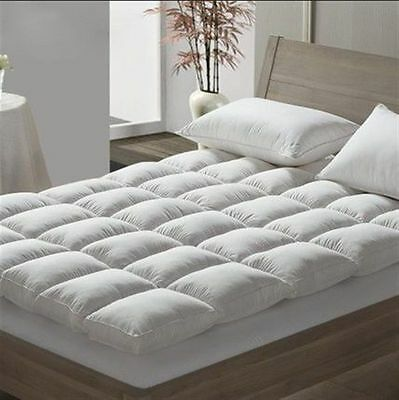 5* Hotel Quality Duck Feather & Down Mattress Toppers / Protector Duck Feather