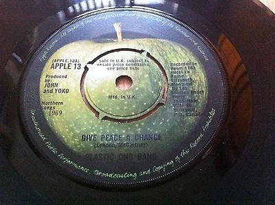 Give Peace Chance LENNON Beatles Mega rare SOLD IN UK 1969 Apple SIUK CONTRACT