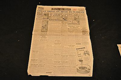 British Paper - Daily Mail - Jan. 5, 1944 - Great Drive On Road To Warsaw
