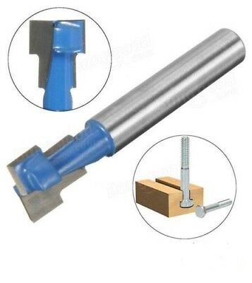 "1/4 Inch Shank T-Slot Cutter Woodworking Router Bit 3/8"" (10mm)"