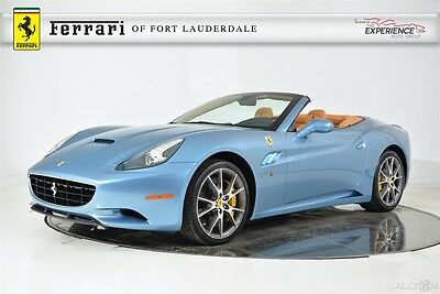 2014 Ferrari California Base Convertible 2-Door Historical Color Extended Leather Electric Shields Camera Aluminum 20 Diamond