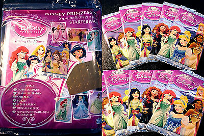 Topps DISNEY PRINCESS PRINZESSIN Trading Card Game Starter Pack Tüten Booster