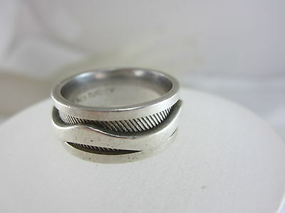 Beautiful Ladies Sterling Silver Band/ring 8.5G