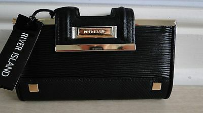 River Island black clip top purse new with tags