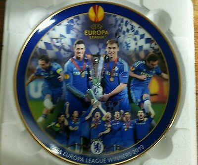 Chelsea UEFA Europa League Winners 2013  Limited Edition Fine Porcelain Plate