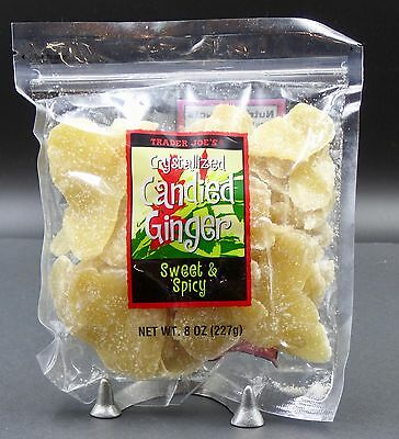 Trader Joe's Crystallized Candied Ginger 8 Oz Sweet & Spicy Dried Fruit