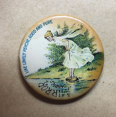 """Vintage Celluloid Advertising Pocket Mirror for MIRROR CANDIES """"Extremely Rare"""""""