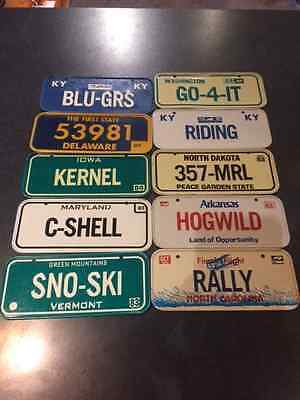 Bicycle License plates cerial   lot of 10......mixed 83-84