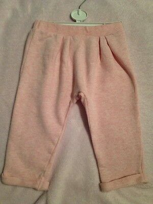 Mothercare Baby Girl Pink Soft Jogger trousers Age 12-18 Months