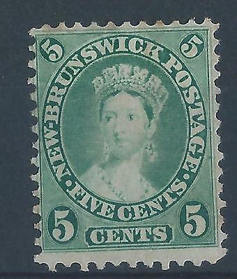 Canada New Brunswick 1860 SG14 5ct definitive mint with hinge