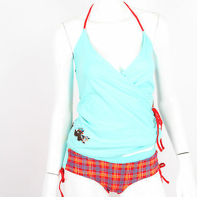 Julius & Friends Paul Frank $47 Turquoise Scottish PJ Sleep Simmy Cami Panty Set