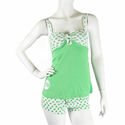 Julius & Friends Paul Frank $57 CAD Green Apples Bandeau White PJ Sleep Cami Set