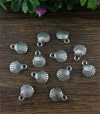 Wholesale 12pcs Tibet silver cameo shell Charm Pendant beaded Jewelry Findings